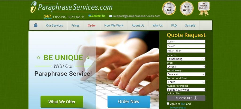 paraphraseservices.com review