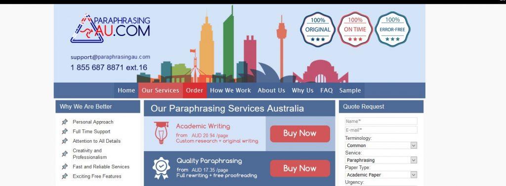 paraphrasingau.com review
