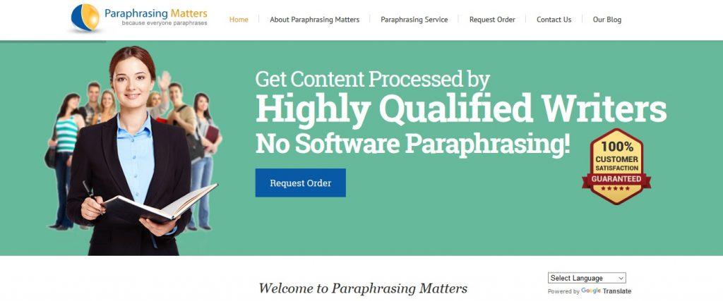 paraphrasingmatters.com review