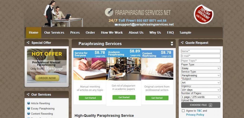 paraphrasingservices.net review