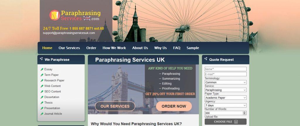 paraphrasingservicesuk.com review