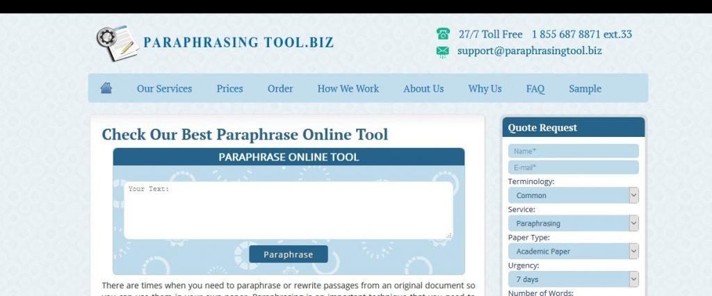 paraphrasingtool.biz review