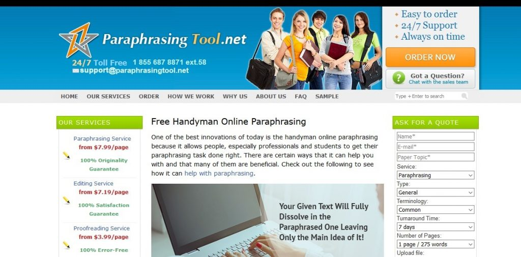 paraphrasingtool.net review