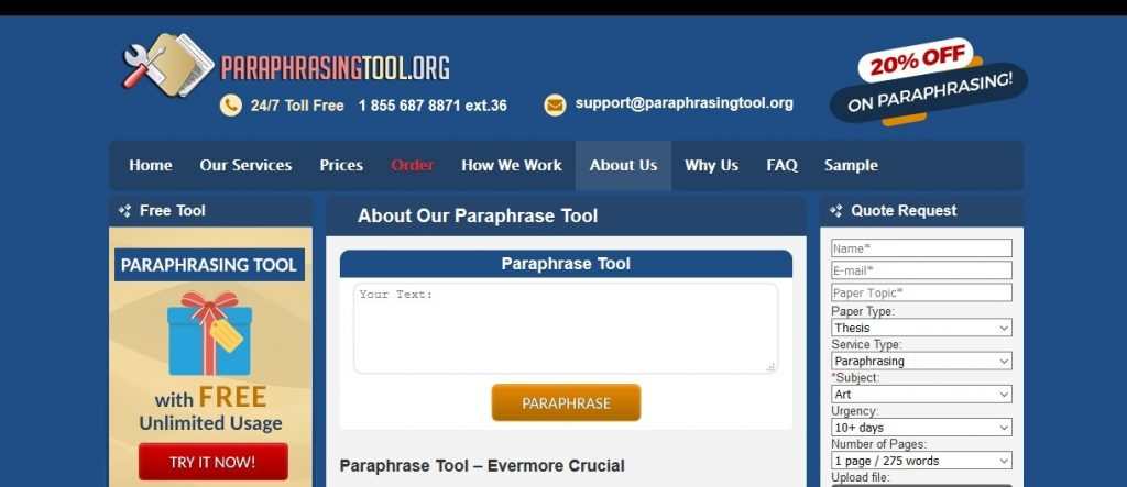 paraphrasingtool.org review