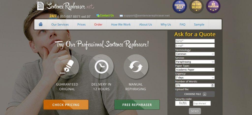 sentencerephraser.net review